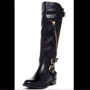 "Dolce Vita ""Bale"" black leather zipper boots"